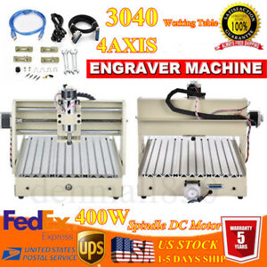 2 Pack 400w Usb 4 Axis 3040 Cnc Router Engraver T screw Drilling Milling Machine