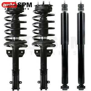 Front Struts Coil Springs Rear Shocks For 2005 2010 Ford Mustang Base Gt