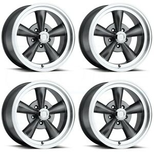 4 New 15 Vision 141 Legend 5 Wheels 15x7 5x4 75 6 Gunmetal Rims