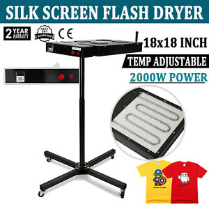 18 X 18 Flash Dryer Silk Screen Printing Equipment T shirt Curing