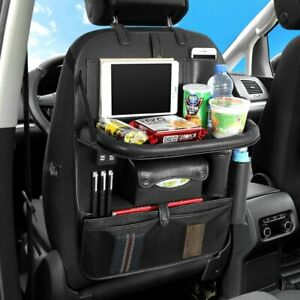 Car Seat Storage Bag Backseat Organiser With Foldable Dining Table 4 Usb Ports