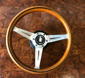 Original Vintage Nardi Wooden Steering Wheel Rare