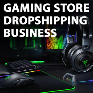 Gaming Accessories Store Ready To Go Dropshipping Business Website
