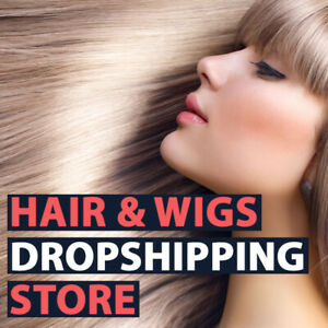 Hair Extensions Wigs Store Dropshipping Business Website For Sale