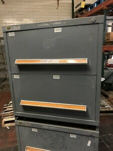 Stanley Vidmar Heavy Duty Industrial 2 Draw Parts Tool Cabinet 27 1 2x30x33