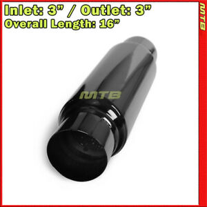 3in Inlet Outlet Stainless Steel Straight Thru Universal Exhaust Muffler 256745