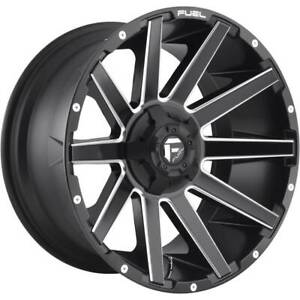 4 New 22 Fuel Contra D616 Wheels 22x10 6x135 6x5 5 18 Matte Black Milled Rims