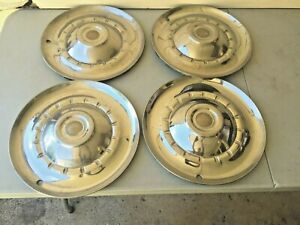 Set Of 4 Vintage 1953 Chrysler Hubcaps Wheel Covers 15