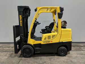 2012 Hyster S80ft 8000lb Smooth Cushion Forklift Lpg Lift Truck Hi Lo 88 185
