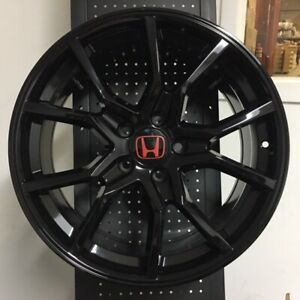 18 Fk8 Type R Style Sport Gloss Black Wheels Rims Fits Acura Tsx Tl Rsx 5x114