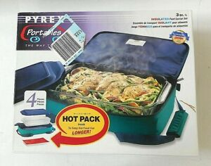 Pyrex Portables Hot cold Insulated Food Carrier 3 Qt l brand New Sealed Box