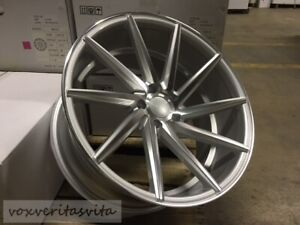 19 Staggered 8 5 9 5 Silver Machine Swirl Concave Style Wheels Rims 5x114 3