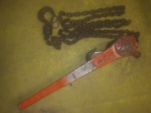 Cm Lever Chain Hoist 3 Ton 12 Lift Come Along Puller Used In Good Condition