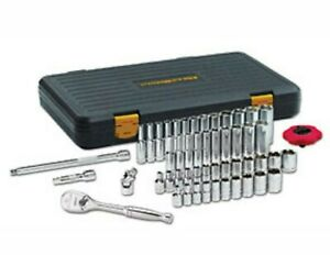 Gearwrench 80550 57 Piece 3 8 Drive 6 Point Socket Set Tools