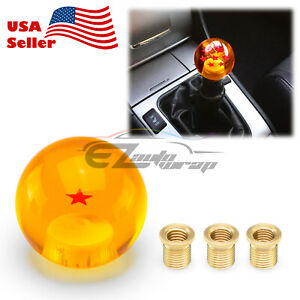 Universal Dragon Ball Z 1 Star 54mm Shift Knob With Adapters Will Fit Most Cars