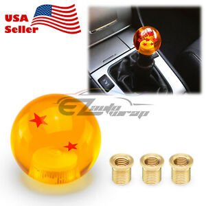 Universal Dragon Ball Z 2 Star 54mm Shift Knob With Adapters Will Fit Most Cars