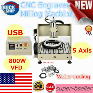 3040 5 Axis Er11 Cnc Usb Router Engraver Milling Machine Ball Screw 800w Motor