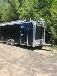 8 5 X 20 Us Cargo phantom enclosed Trailer With Ladder Rack And Aluminum Wheels