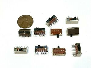 10 Piece 2p3t Sk 23d07 3 Position 8 Pin Slide Switch Switches Tactile Pcb A27
