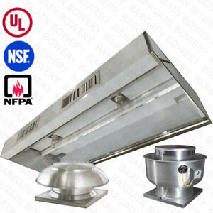 10 Ul 10 Ft Restaurant Commercial Kitchen Exhaust Hood With Make Up Air System