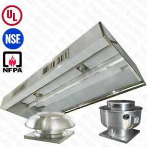 8 Ul 8 Ft Restaurant Commercial Kitchen Exhaust Hood With Make Up Air System