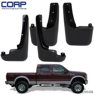 Mud Flaps Splash Guards Molded For 1999 10 Ford F250 F350 F450 F550 Super Duty