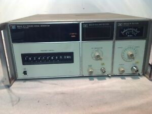 Hp 8660a Sunthesized Signal Generator W Hp 86631b Auxiliary Hp 86601a Rf
