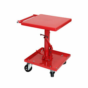 220lb Hydraulic Table Cart Foot Pedal Lift Stand Heavy Duty Garage Shop Tool