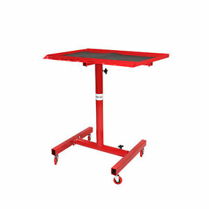 200 Lb Rolling Tool Tray Adjustable Height Utility Cart Stand Work Table Steel