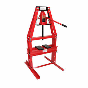20 Ton A Frame Shop Press With Press Plates Floor Hydraulic Jack Lift Hoist
