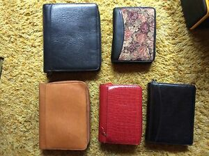 Lot Of 5 Preowned Franklin Covey Planners Assorted Styles