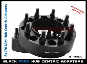 2 Pc 8x170 Mm Hub Centric Wheel Spacers Adapters 2 Thick M14x2 Fits F 250 F 350