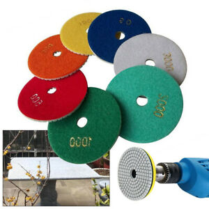 Diamond Polishing Pads 4 Inch Wet dry 20pcs set Granite Stone Concrete Marble
