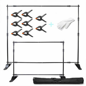 10 Telescopic Backdrop Stand Adjustable Banner Display Trade Show Wall Exhibito