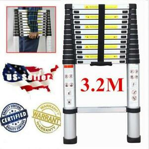10 5ft Flexible Telescopic Aluminum Extension Ladder Steps heavy Duty Tool
