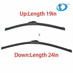 24 19 Bracketless High Quality Windshield Wiper Blades J Hook