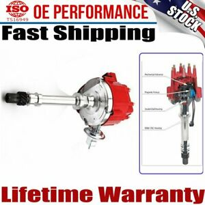 Small Big Block 65k Hei Distributor For Chevy Gm With Red Cap Msd 8362 59107c