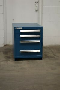 Used Vidmar 4 Drawer Cabinet 27 Inch Tall 22 Wide Industrial Tool Storage 1722
