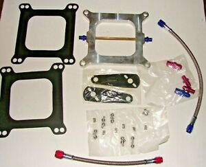 Cheater Sniper 4150 Nitrous Plate Kit 50 250 Edelbrock Nos Nx Zex Holley Carb