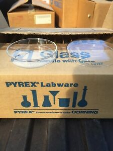Pyrex Labware 3160 101 Culture Dish Petri Bottom With Covers Lot Of 12