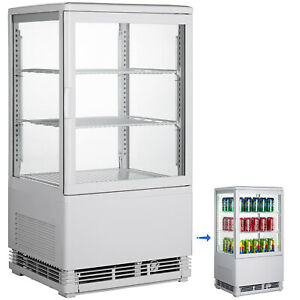 2cu ft Commercial Display Cabinet Refrigerator Double Tempered Glass Restaurant