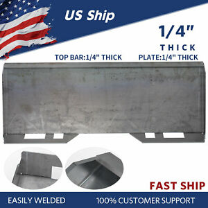 1 4 Skid Steer Mount Plate Thick Steel Tractors Bucket Quick Tach Attachment