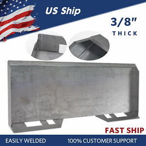 3 8 Skid Steer Mount Plate Tractor Quick Attachment Tach Steel Plate Heavy Duty