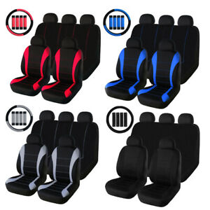 Front Rear Full Set Car Seat Covers Fit Most Car Truck Suv Van Universal Fit