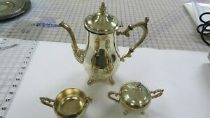 Vintage Wm Rogers Silver Plate Tea Coffee Service Set Old And Collectible Lot 9