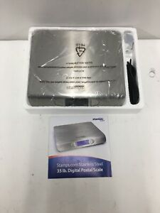 Stamps com Stainless Steel 35 Lb Digital Postal Scale Ubs