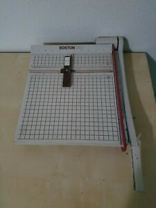 Boston 2612 Paper Cutter 12 Trimmer Heavy Duty Guillotine Usa Works Great Vguc