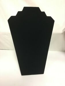 Black Velvet Necklace Jewelry Display Organizer Stand 12 5 Inch