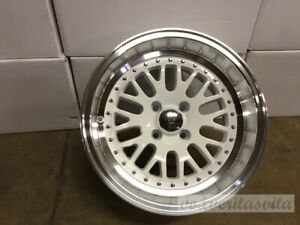 15 Lm20 Style Wheels Rims White 4 Lug 4x100 Brand New Set Of 4 Aggressive Fit