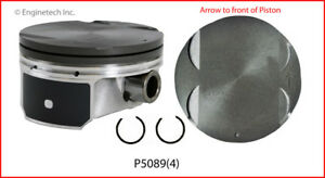 Enginetech P5089 4 Std Engine Piston Set